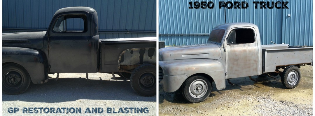 Blasting and completing surface preparation on classic cars and other vehicles in Lincoln Nebraska