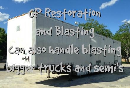 GP Restoration and Blasting Trucks Semis