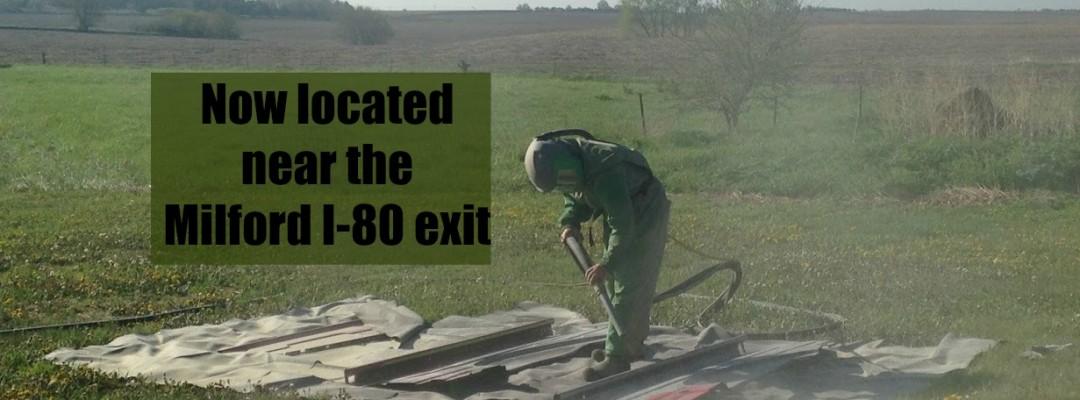 Milford Nebraska Interstate 80 exit new location for GP Restoration and Blasting